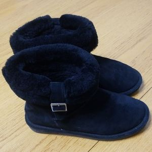 Bearpaw Abby Black Winter Suede Boots size 8